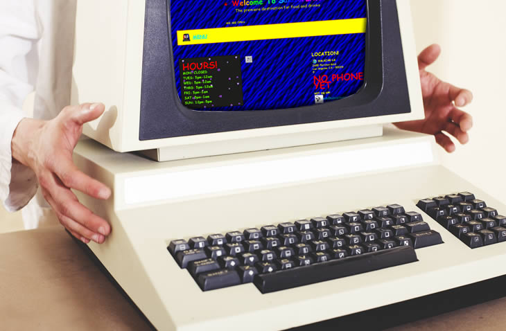 Una mirada a los sitios web de los años 90