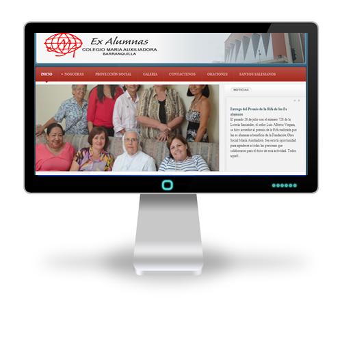 Pagina web Exalumnas Colegio Maria Auxiliadora