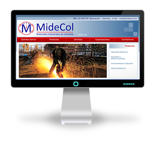 Pagina web Midecol